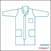 Labcoat with zip and zip cover + 3 pockets, Category 1